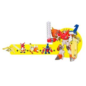 Pack Digifusion Digimon Figuras Digimon 4 VzSMpUq