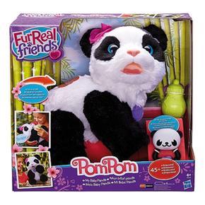 PomMi Real Fur Panda Bebé Pom mnNw8v0