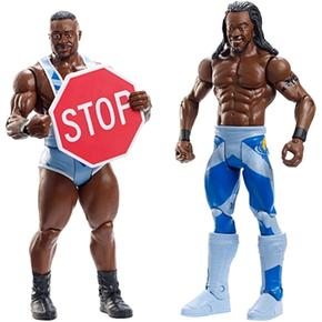 wwe big e y kofi kingston pack 2 figuras wrestling. Black Bedroom Furniture Sets. Home Design Ideas