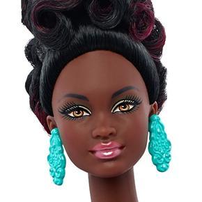 Fashionista Barbie Brocado Blanco Vestido Muñeca Y Azul qUVSzMpG