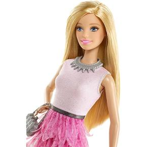 Falda Rosa Y Fashionista Muñeca Top Barbie HEIWD29