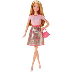 Top Fashionista Muñeca Dream Flores Falda Barbie Rosa yO0mnwPNv8