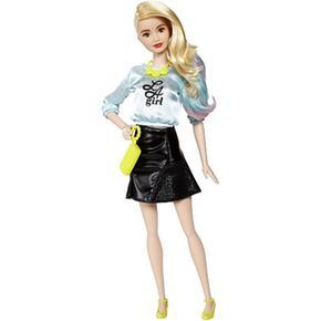Azul Falda Negra Barbie A Girl Fashionista L Muñeca Top m08OvnwN