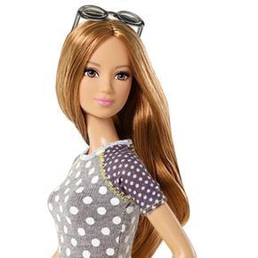 Falda Barbie Fashionista Amarilla Top Gris Blancos Muñeca Lunares 29IbeEHYDW
