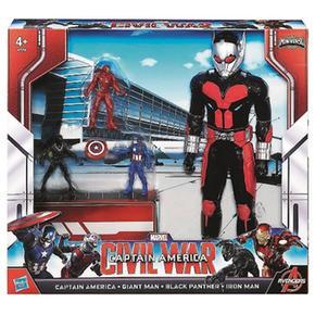 Pack Man 4 América Ant Figuras De Batalla Capitán cLq54ARj3