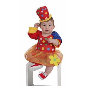 Disfraz Bebé Payasa Pepona 0 A 12 Meses