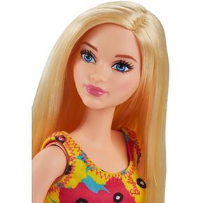 Flores Y Amarillo Barbie Grandes Muñeca Chic Vestido Rubia Rosa AjL4Rq35
