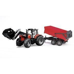 Tractor Massey Con Pala Y Remolque