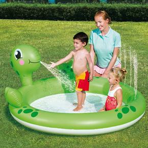 Piscina inflable tortuga con surtidor acccionable bestway for Piscina inflable bestway