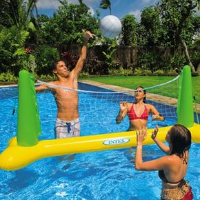 Juego de volleyball inflable para piscina intex for Piscina inflable intex