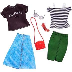 Barbie – Camiseta Rayas Y Camiseta California 1959 – Pack 2 Modas