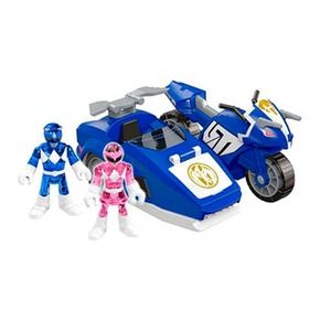 Fisher Price – Imaginext Power Rangers – Ranger Azul Y Triceratops De Batalla