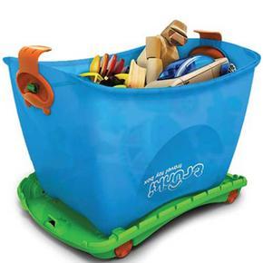 Cajon para guardar juguetes azul trunki - Cajon para juguetes ...