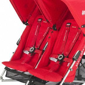 Twin Maclaren De Paseo Scarlet Rojo Triumph Sillita Silver PnwO8k0