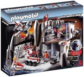 Playmobil Cuartel General De Agentes Secretos Con Sistema De Alarma