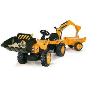 Tractor Max Builder Con Remolque Smoby