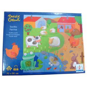 La Puzzle De Animales Granja Tactil Djeco Pw80Onk