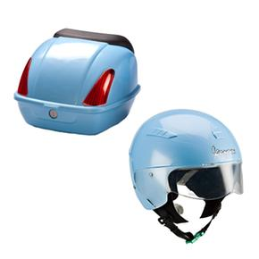 Vespa Safety Helmet & Rear Box