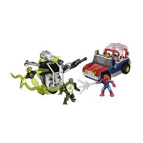 Spiderman 4 Mega Hombre Bloks Set Lagarto E29IYWDH