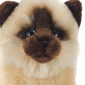De Animal Pelo Siamés 30cm Peluche Alley Gato Largo iOuTXPZk