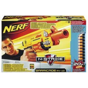 Lanzador N-strike Barricade Rv-10 Dobla Dardos Nerf