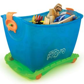 Caja guarda juguetes y correpasillos toy box azul - Guarda juguetes bano ...