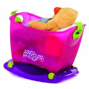 Caja guarda juguetes y correpasillos toy box rosa - Guarda juguetes bano ...