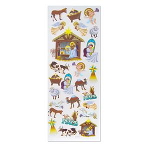 Xmas Stickers-glit