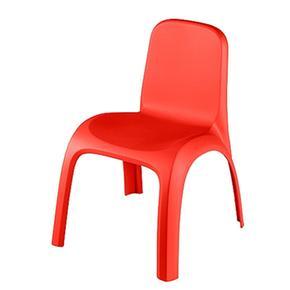 Silla pl stico roja for Silla infantil plastico