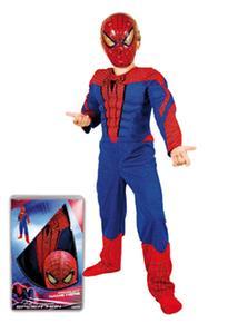 3 Careta En Talla Spider Caja Músculo Y Pvc 5 Infantil Años Disfraz Con xBoderC