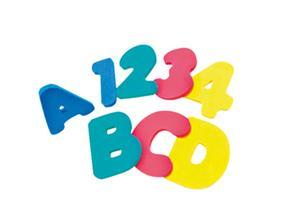 Nenittos Letras Piezas De Para El Baño 36 Números Gomaespuma Y Lqc54Rj3A