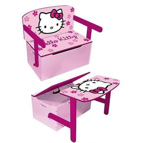 Pupitre 3 en 1 hello kitty for Bureau coffre 3 en 1
