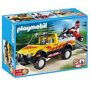 Pick-up Con Quad De Carreras Playmobil
