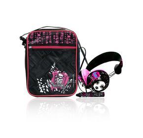Monster High Pack Bolso Tablet + Headphoner Premiunm + Stylus