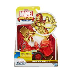 Man Playskool Marvel Figura Adventures Iron Heroes Con Básico Vehículo sxtrdChQ