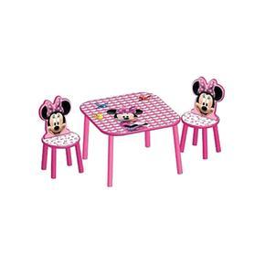 Set mesa 2 sillas minnie for Mesa y silla infantil