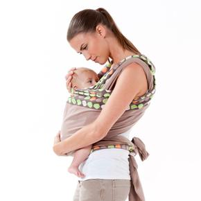 Fular Portabebé Para Anudar Topo Verde Baby Moov