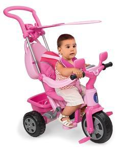 Triciclo Baby Plus Music Rosa Con Toldo Juguettos