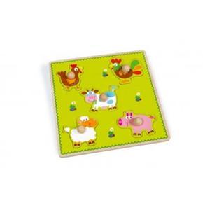 Puzzle Infantil Animales De Granja Scrath