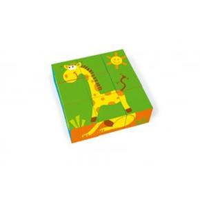 Puzzle Infantil De Bloques De Animales