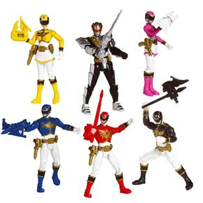 Power Rangers Súper Samurái – Pack 6 Figuras Megaforce Rangers