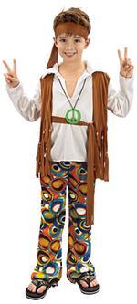 Disfraz Infantil Niño Hippie Talla L