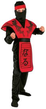 Disfraz Infantil Ninja Rojo Talla L