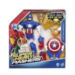 Marvel – Figura De Lujo Mashers Superhéroe – Capitán América