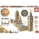 Educa Borrás – Parlamento Y Big Ben – 3d Monument Puzzle