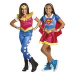 Dc Super Hero Girls – Disfraz Infantil Supergirls Y Wonder Woman 5-7 Años