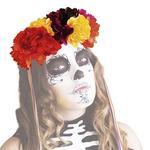 Diadema Lujo Katrina Rosas Colores Día De Los Muertos