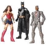 Liga De La Justicia – Batman, Mujer Maravilla Y Cyborg 3 Pack 30 Cm