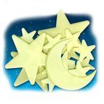 Luna Y Estrellas Cosmicas Brillantes