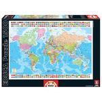 - Mapa Del Mundo – Puzzle 1500 Piezas Educa Borras